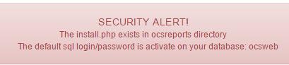 ocs inventory alertas