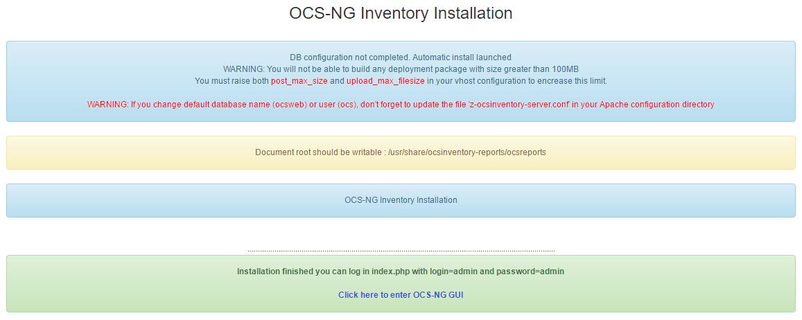 ocs inventory web