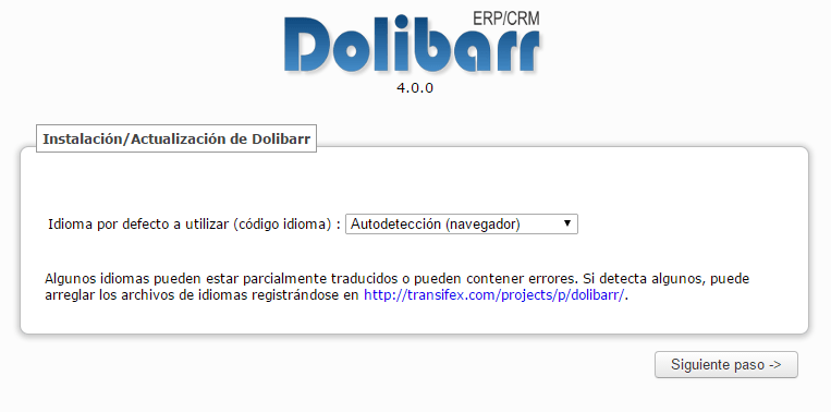 DOLIBARR INSTALACION