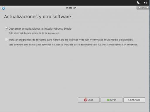 Ubuntu Studio 18.04 actualizaciones y otro software