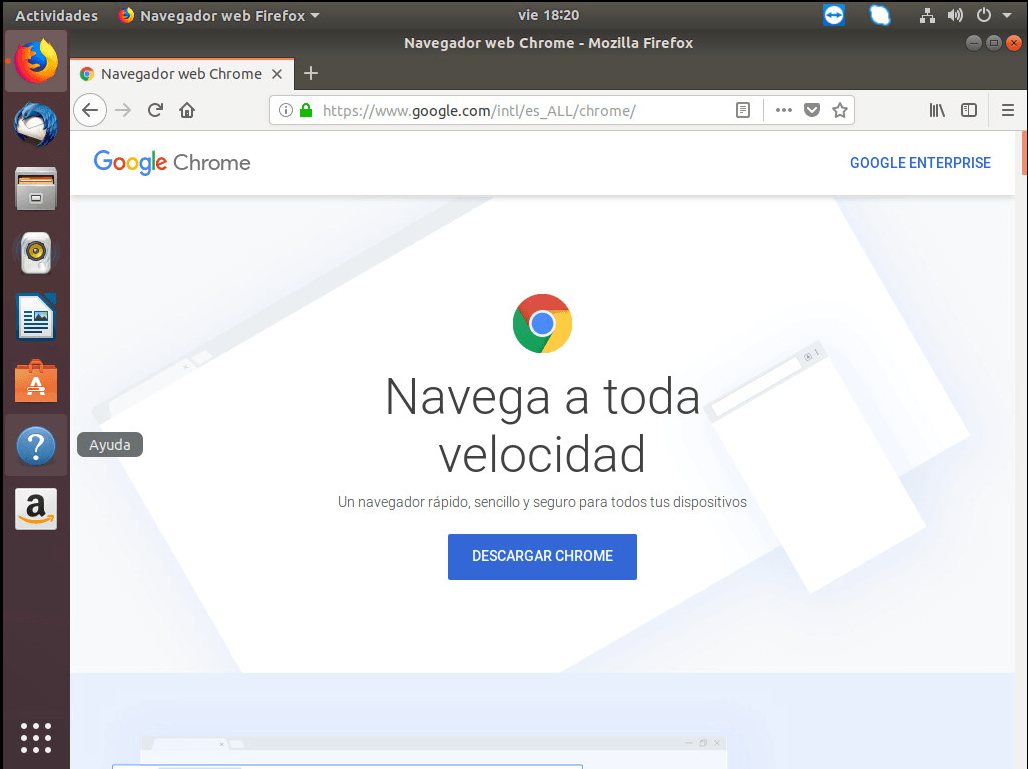 instalar chrome en ubuntu descargar