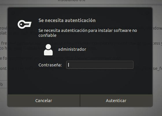 instalar teamviewer en ubuntu contraseña