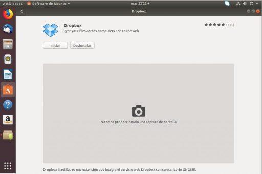instalar dropbox en ubuntu 18.04 desde repositorio iniciar