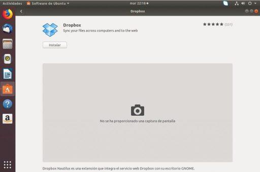 instalar dropbox en ubuntu 18.04 desde repositorio instalar