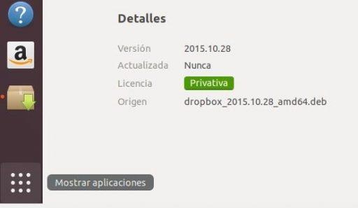 instalar dropbox en ubuntu 18.04 icono dropbox