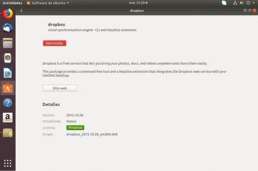instalar dropbox en ubuntu 18.04 instalado