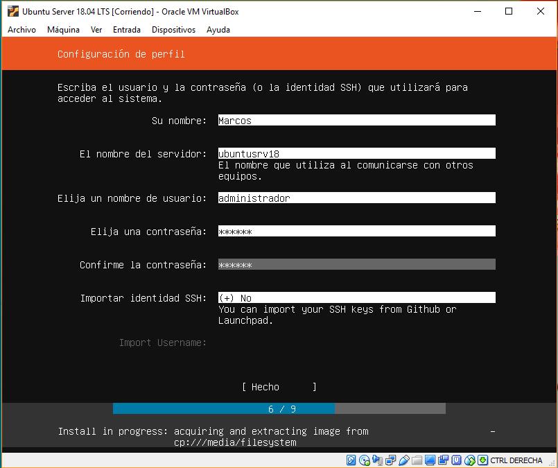 INSTALAR UBUNTU SERVER 18.04 LTS EN VIRTUALBOX_18