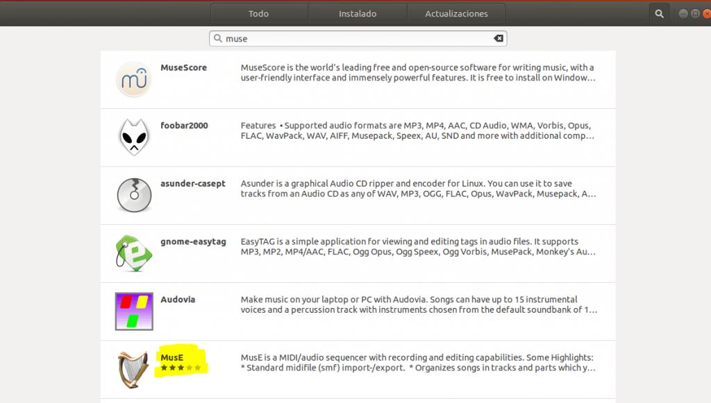 instalar muse en ubuntu