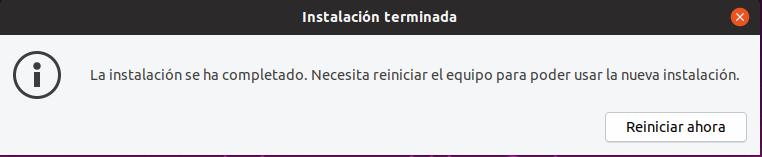 instalar ubuntu 19.04 REINICIAR