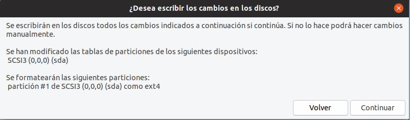 instalar ubuntu 19.04 cambios de disco