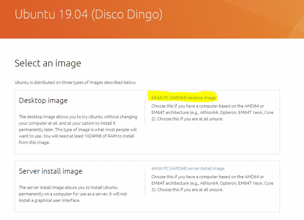 instalar ubuntu 19.04 descarga