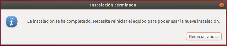 instalar ubuntu junto a windows 10 _ reiniciar