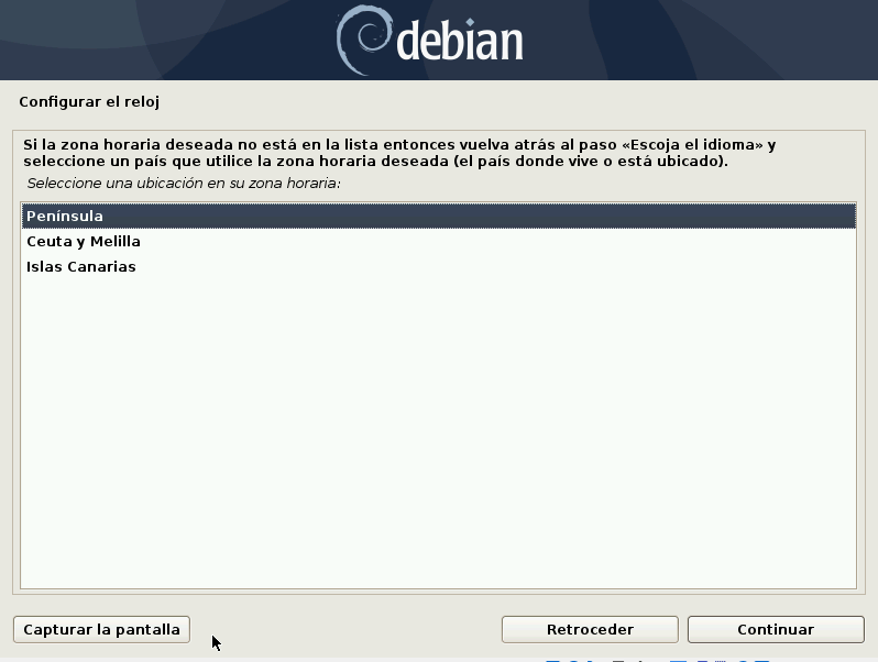 instalar-debian-10-buster-Configurar-reloj