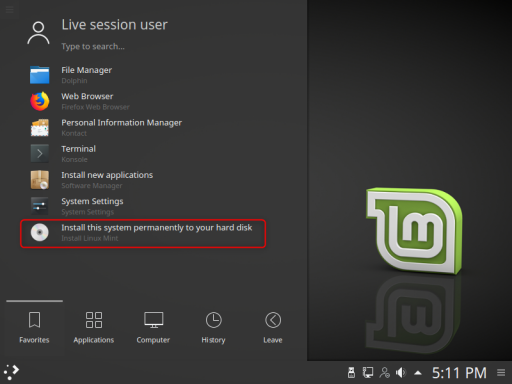 INSTALAR LINUX MINT 18.3 KDE