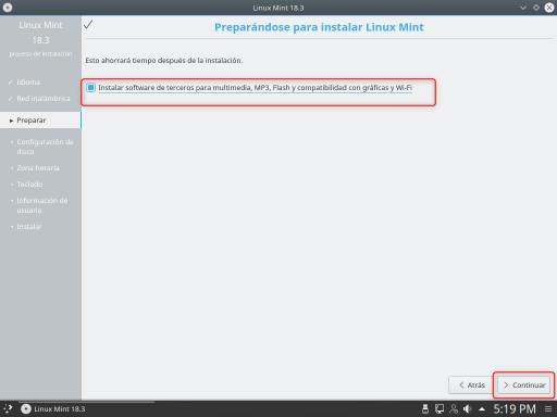 INSTALAR LINUX MINT 18.3 KDE software de terceros