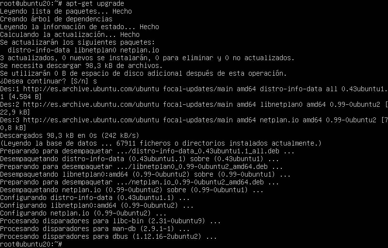 apt-get upgrade ubuntu server 20.04