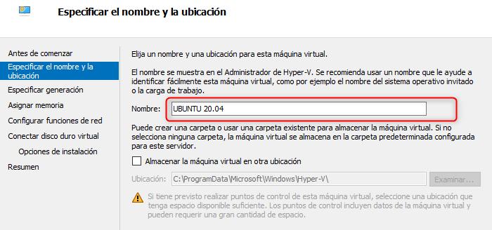 hyper - v ubuntu 20.04 como máquina virtual instalar