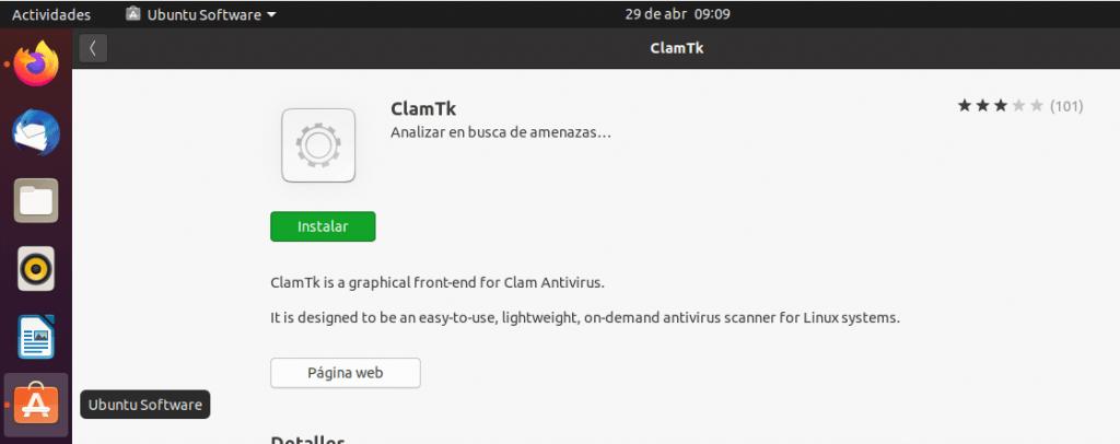 instalar clamtk en ubuntu