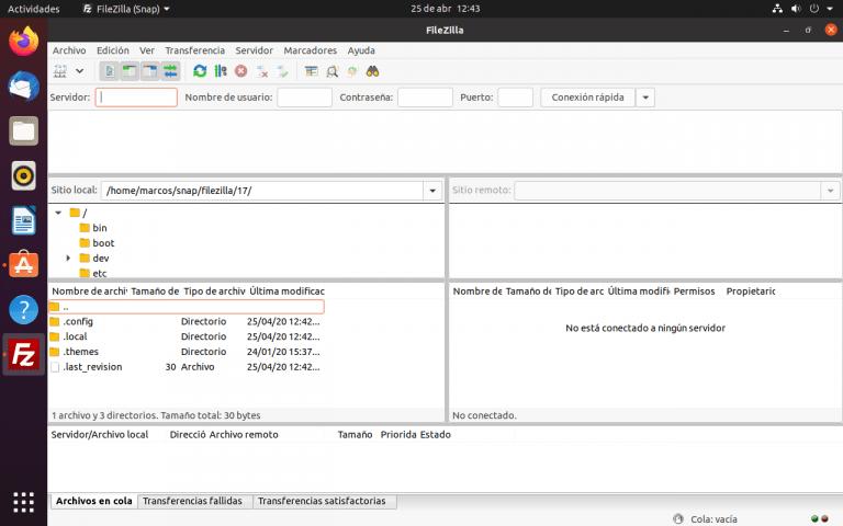 Ubuntu ftp client
