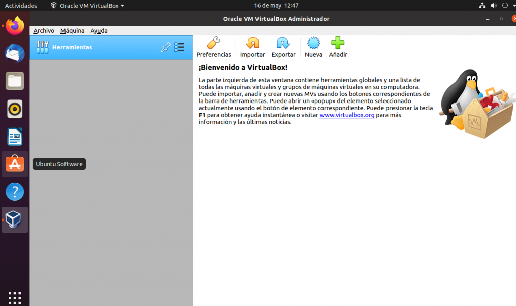 VIRTUALBOX EN UBUNTU 20.04