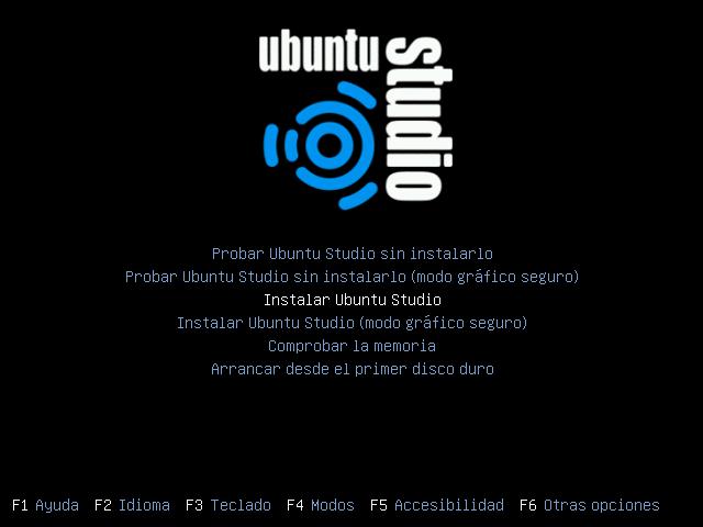 INSTALAR UBUNTU STUDIO