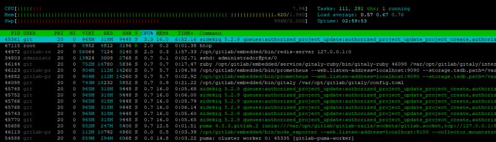 MEDIR CPU Y RAM EN UBUNTU HTOP